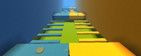 Kogama: 2 player Blue VS Yellow