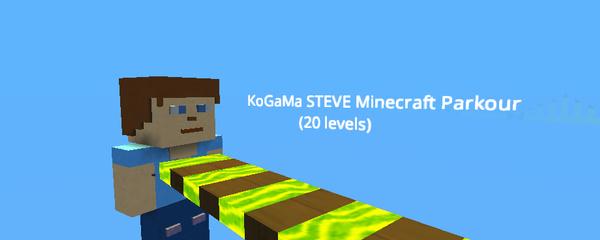 KoGaMa STEVE Minecraft Parkour (20 Levels) - KoGaMa - Play, Create