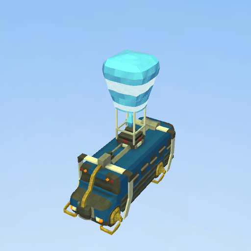 fortnite battle bus model - fortnite bus model