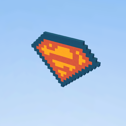 Superman Logo Pixel Art Kogama Play Create And Share